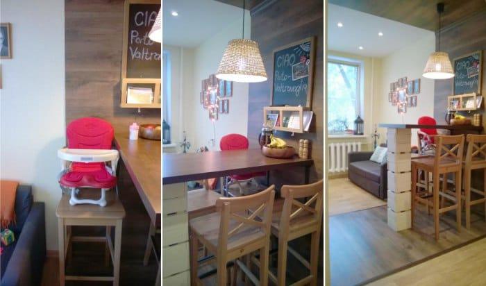 размеры барной стойки и стульев для кухни наглядные