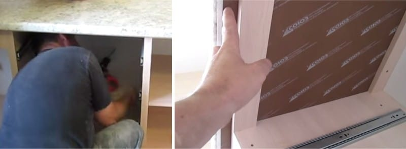 Монтаж столешницы к стене